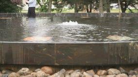 La fontana Hanseatic in Velikiy Novgorod, Russia archivi video