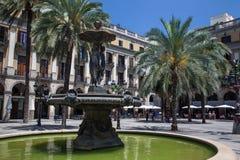 Placa Reial Barcellona Spagna Immagine Stock Libera da Diritti