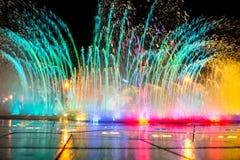 La fontana musicale Corea di Daedepo, fontana variopinta gradisce una corona Immagini Stock