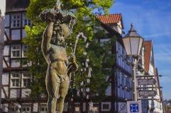La fontana nel centro della città Immagine Stock Libera da Diritti