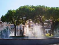 La fontana nel porto Immagine Stock Libera da Diritti