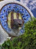 La fontana nello stile modernista Immagini Stock Libere da Diritti