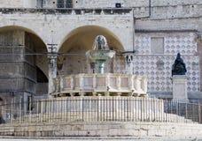 La fontana principale, Perugia, Italia immagine stock