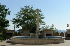 La fontana sul lungomare in Novorossijsk Fotografia Stock Libera da Diritti
