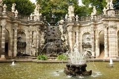La fontana in Zwinger Fotografia Stock