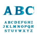 La fonte che consiste di tre lettere Immagine Stock Libera da Diritti