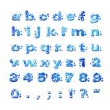 la fonte profonde marque avec des lettres la petite texture de mer illustration de vecteur