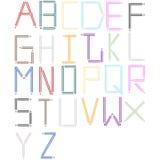 La fonte tipografica ha impostato 3 Fotografie Stock