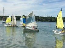 La Forêt d'Orient lake. Sailing on the La Forêt d'Orient lake Royalty Free Stock Photos