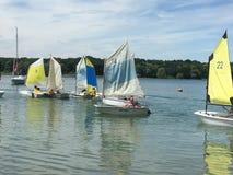 La Forêt d'Orient lake. Sailing on the La Forêt d'Orient lake Stock Image
