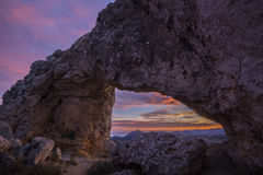 La Forada arch rock Stock Image