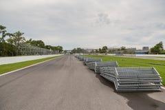 La forcella al circuito Gilles Villeneuve a Montreal Quebec Cana immagini stock libere da diritti