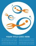 La forcella ha munito il disegno di coda dei pesci. Fotografia Stock Libera da Diritti