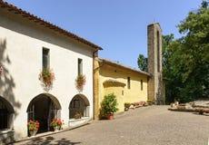 La Foresta Franciscan monastery entrance, Rieti Stock Image