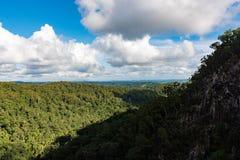 La foresta pluviale da Minyon cade allerta nel parco nazionale del berretto da notte, Australia Fotografie Stock