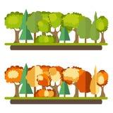 La foresta verde, foresta di autunno, va royalty illustrazione gratis