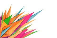 La forma appuntita colora gli ambiti di provenienza Immagine Stock