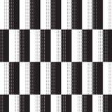 La forma bianca nera di rettangolo con il verticale in bianco e nero si è precipitata Fotografia Stock Libera da Diritti