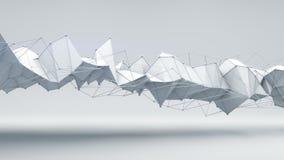 La forma 3D del techno de la ciencia ficción rinde Fotografía de archivo
