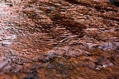 La forma de la agua corriente Fotografía de archivo