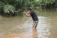 La forma de vida de la gente en la inundación masiva Fotografía de archivo