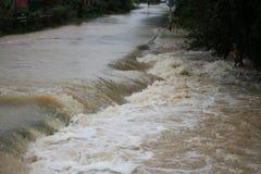 La forma de vida de la gente en la inundación masiva Imagen de archivo