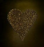La forma dei chicchi di caffè gradisce l'amore del cuore Fotografia Stock Libera da Diritti
