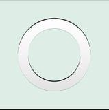 La forma del cerchio con carta ha tagliato lo stile su colore pastello Immagine Stock Libera da Diritti