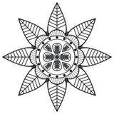 La forma del fiore con 8 foglie ha ispirato dall'indiano Immagini Stock