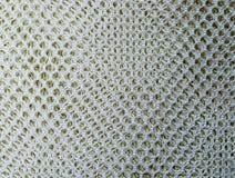 La forma del rombo ha ingabbiato la rete del tessuto Fondo, struttura fotografia stock