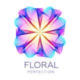 La forma fantastica del fiore, forma astratta con i lotti di mescolamento allinea Immagine Stock Libera da Diritti