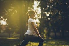 La forma fisica è importante nella gravidanza immagine stock libera da diritti