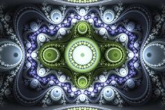 La forma geométrica del fractal puede ilustrar la explosión nuclear mágica de los sueños psicodélicos del espacio de la imaginaci Fotos de archivo libres de regalías