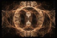 La forma geométrica del fractal puede ilustrar la explosión nuclear mágica de los sueños psicodélicos del espacio de la imaginaci Fotografía de archivo