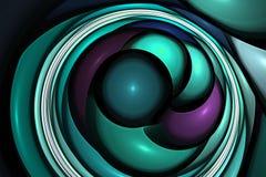 La forma geométrica del fractal puede ilustrar la explosión nuclear mágica de los sueños psicodélicos del espacio de la imaginaci Imágenes de archivo libres de regalías