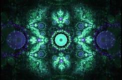 La forma geométrica del fractal puede ilustrar la explosión nuclear mágica de los sueños psicodélicos del espacio de la imaginaci Fotografía de archivo libre de regalías