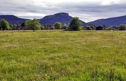 La forma inequivocabile di Colle Ruse, neck attraverso i campi e prati di La progetta, Bagnols Immagini Stock