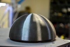 La forma rotonda ha stampato 3d da una stampante giroscopica Fotografia Stock