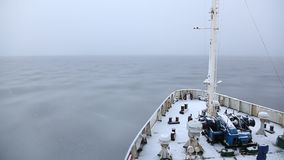 La formación de hielo en el mar almacen de metraje de vídeo