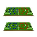 La formación de los equipos de fútbol circunda 3D Foto de archivo