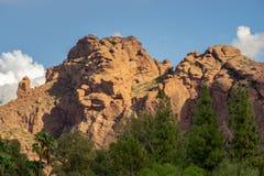 La formación de roca de rogación del monje, Phoenix, AZ fotografía de archivo