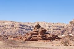 La formación espiral de la piedra arenisca de la colina en el parque de Timna en Israel imagen de archivo libre de regalías