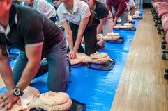 La formation de la ressuscitation d'assistance vitale et du CPR de base knowled Image stock