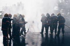 La formation du sapeur-pompier pompier image stock