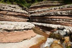 La formazione geologica di Brent de L arte del ` in Trichiana nella provincia di Belluno, Italia Immagine Stock Libera da Diritti