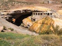 La formazione naturale del ponte dell'inca - le Ande dal Mendoza Argentina fotografia stock libera da diritti
