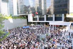 ?La formazione nazionale? solleva le furore a Hong Kong Fotografia Stock
