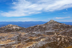 La formazione rocciosa di Horn, Mt Parco nazionale della Buffalo, Australia Fotografie Stock