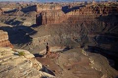 La formazione rocciosa ha chiamato Big Mama a Canyonlands Nati Immagine Stock