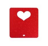 La forme blanche de coeur a coupé sur la couleur de papier métallique Photos libres de droits